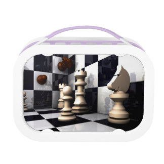 Game Chess Style Lunch Box