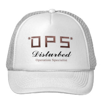 game clan cap001 W name Disturbed Trucker Hat