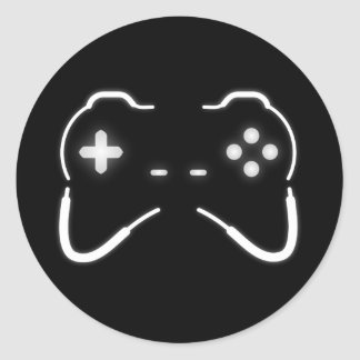 Game Controller Classic Round Sticker