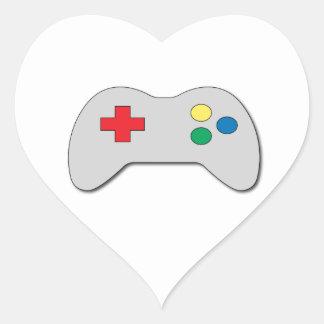 Game Controller Heart Sticker