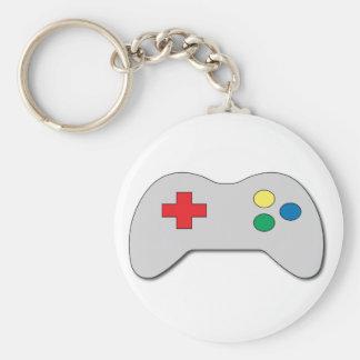 Game Controller Basic Round Button Keychain