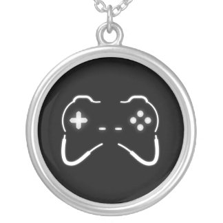 Game Controller Silver Plated Necklace