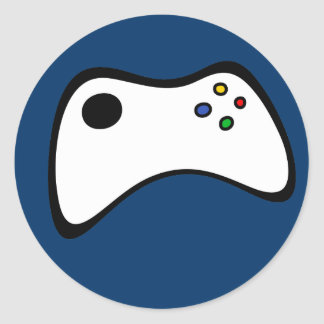 Game Controller Round Stickers