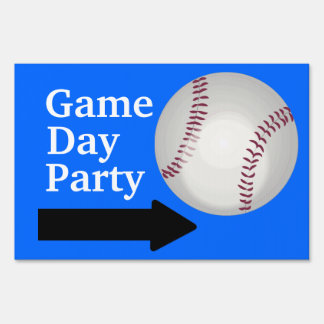 Game Day Party Baseball Fan Customizable Sports Signs