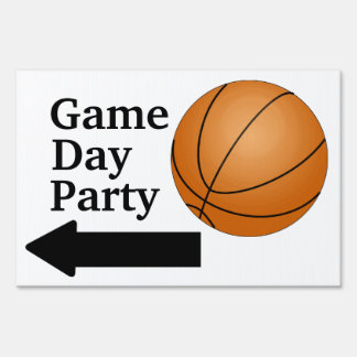 Game Day Party Basketball Sports Fan Customizable Yard Signs