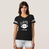 Game Day Striped Football Sunday Athletic Tshirt