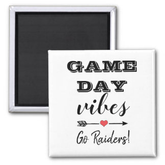 Game Day Vibes Team Heart Personalized Text Magnet