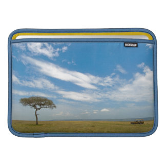 Game drive vehicle on open African plains Sleeve For MacBook Air