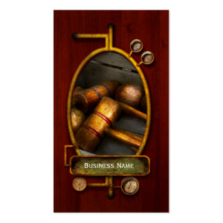 Game - Everyone loves to play Croquet Business Card