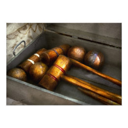 Game - Everyone loves to play Croquet Card