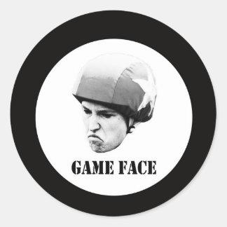 game face - big.jpg round sticker