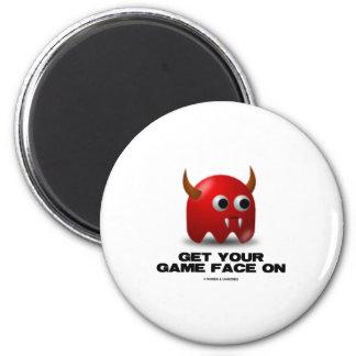 Game Face Devil (Retro Avatar) Fridge Magnets