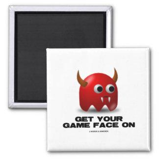 Game Face Devil (Retro Avatar) Magnets
