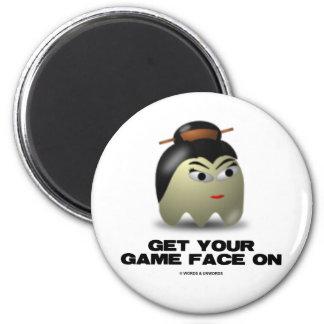 Game Face Geisha (Retro Avatar) Fridge Magnet