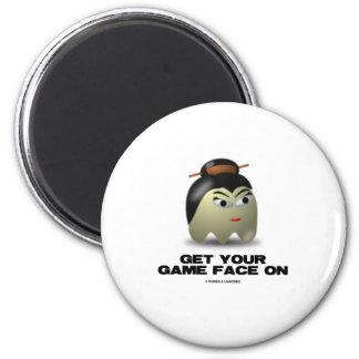 Game Face Geisha (Retro Avatar) Refrigerator Magnets