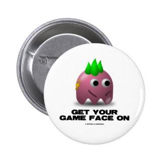 Game Face Punk (Retro Avatar) Pin