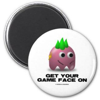 Game Face Punk (Retro Avatar) Magnet