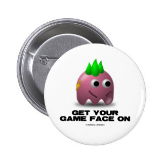 Game Face Punk (Retro Avatar) Pinback Button