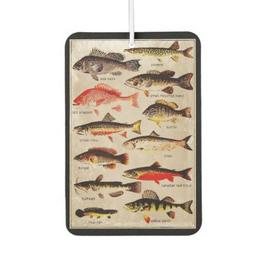 Game Fish Vintage Artwork Double-Sided Air Freshener