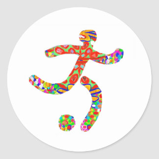 Game FootBall Icon Symbol Classic Round Sticker