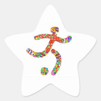 Game FootBall Icon Symbol Star Sticker