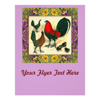 Game Fowl Flowered Frame Flyer
