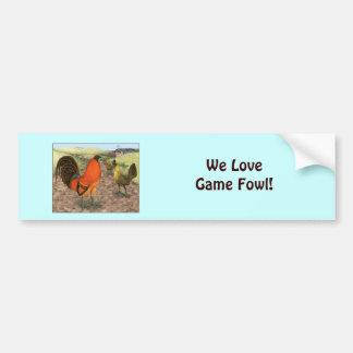 Game Fowl on the Farm Bumper Sticker