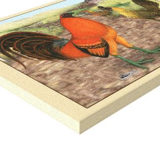 Game Fowl on the Farm Canvas Print
