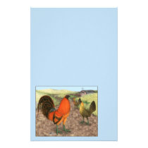 Game Fowl on the Farm Stationery