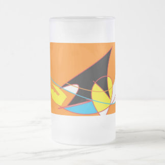 game frosted glass beer mug