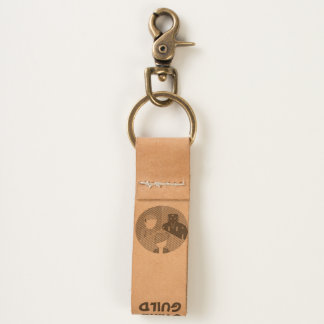 Game Guild Leather Keychain
