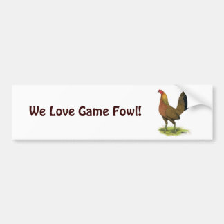 Game Hen:  Pea-combed Bumper Sticker