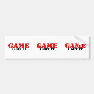 Game I Got It Bumper Sticker