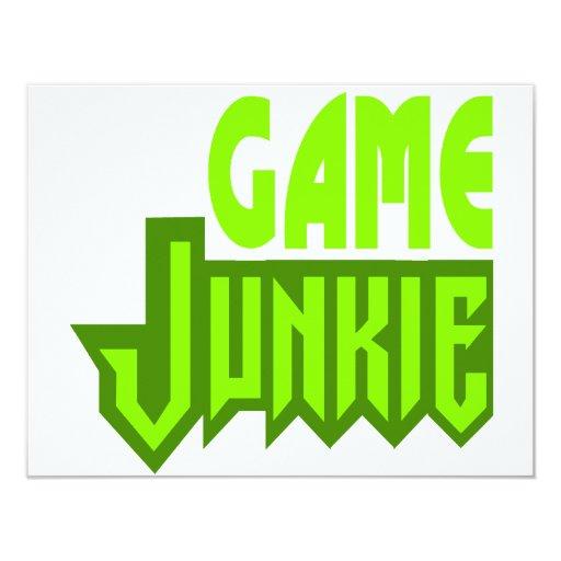 Game Junkie 4.25x5.5 Paper Invitation Card