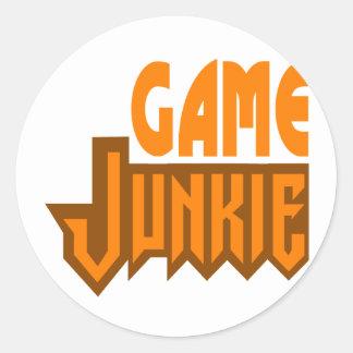 Game Junkie Classic Round Sticker