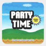 Game Menu Invitation Envelope Sticker Seal