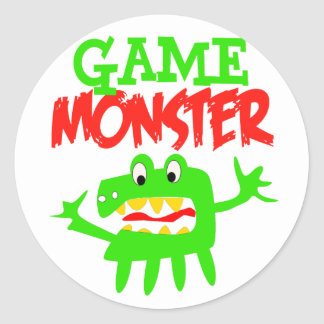 Game Monster Classic Round Sticker