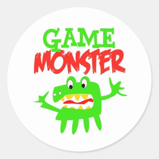 Game Monster Round Sticker