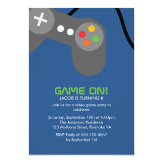 Game Night Birthday Party Card