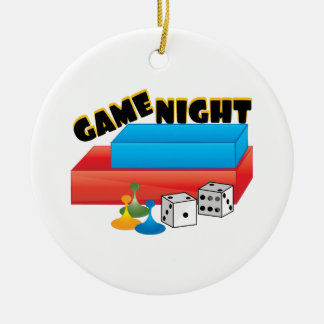 Game Night Double-Sided Ceramic Round Christmas Ornament