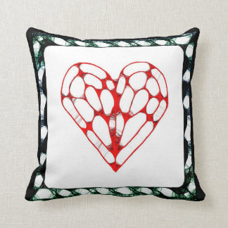 Game Night ~ Hearts Throw Pillow