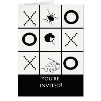 Game Night Invitation, Funny Tic Tac Toe Card