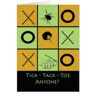 Game Night Invitation, Funny Tick Tack Toe Card