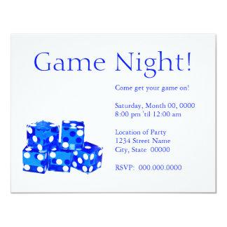 "Game Night Invitations 4.25"" X 5.5"" Invitation Card"