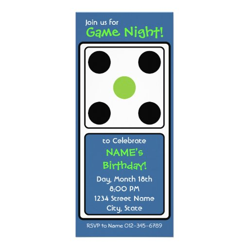 personalized domino invitations