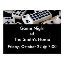 Game night postcard