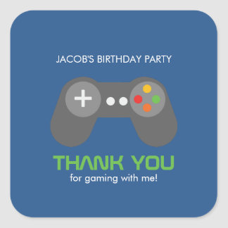 Game Night Theme Birthday Square Sticker