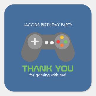 Game Night Theme Birthday Square Sticker