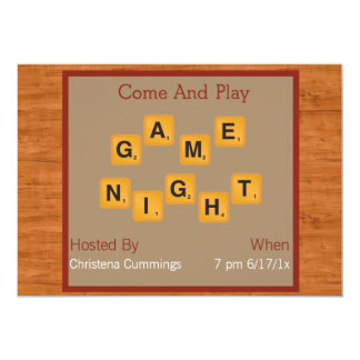 Game Night Tile Letters Invitation