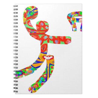 Game of Basket Ball Line Art Spiral Notebook